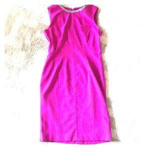 Magenta sheath dress